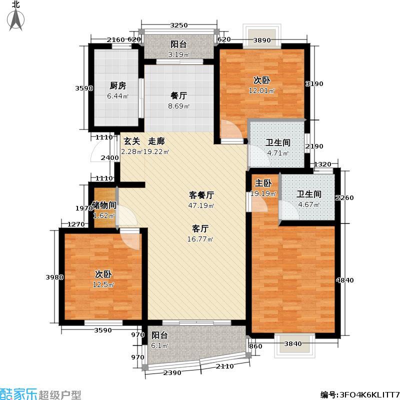 枫桦景苑二期_5户型3室1厅2卫1厨