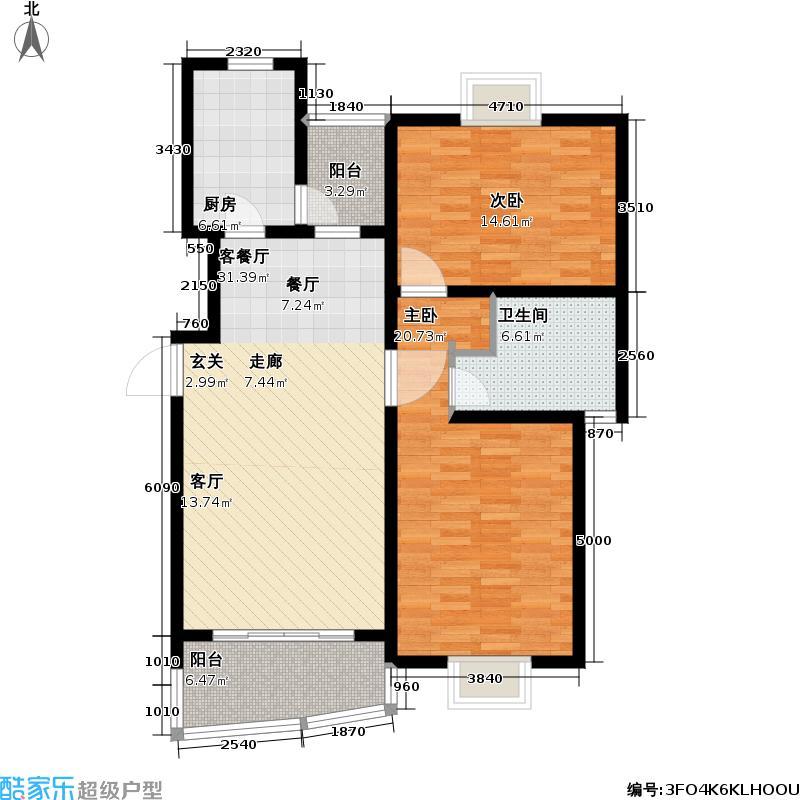 枫桦景苑二期_9户型2室1厅1卫1厨