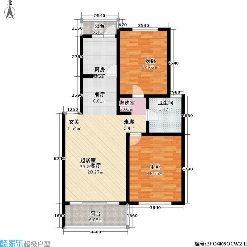 文怡花园80.00㎡房型: 二房; 面积段: 80 -101 平方米;户型