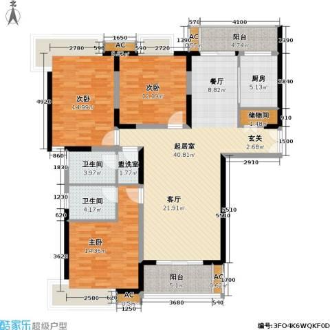 名都新城四期3室0厅2卫1厨127.00㎡户型图