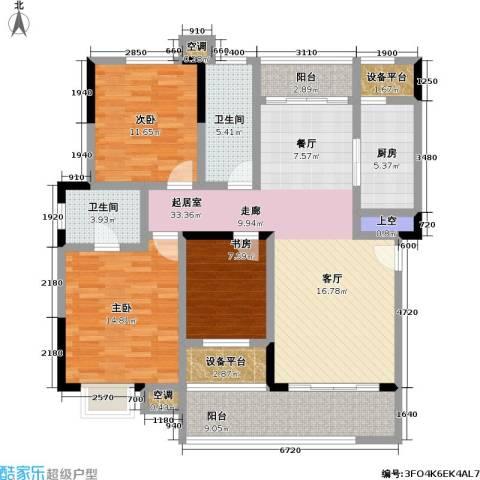 建邦华府3室0厅2卫1厨119.00㎡户型图