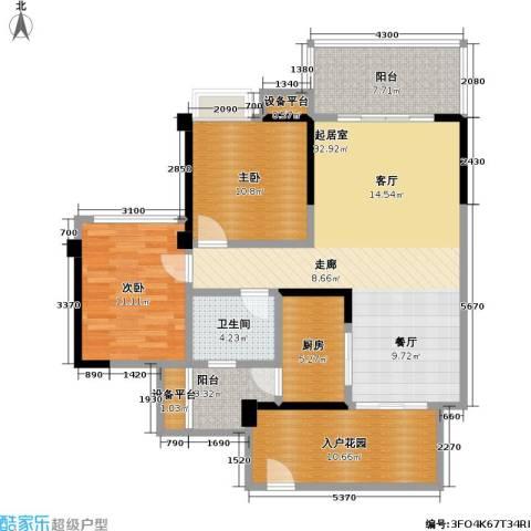 佳兆业金翠园2室0厅1卫1厨125.00㎡户型图