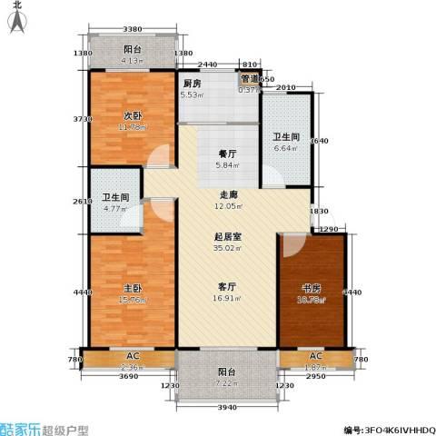 江桥二村3室0厅2卫1厨144.00㎡户型图