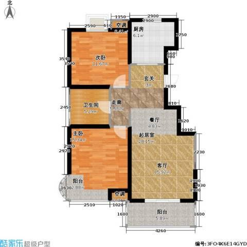 顺义金宝城2室0厅1卫1厨97.00㎡户型图
