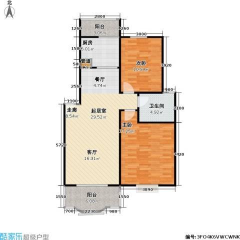 昌鑫协和园2室0厅1卫1厨83.00㎡户型图