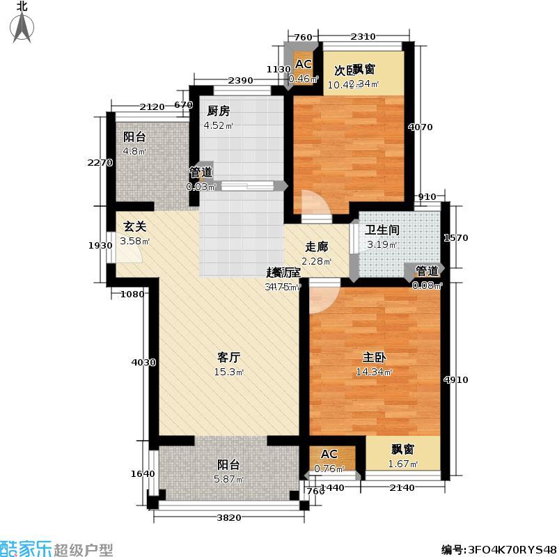 旭辉依云湾80.00㎡二房二厅一卫-89平方米-40套户型