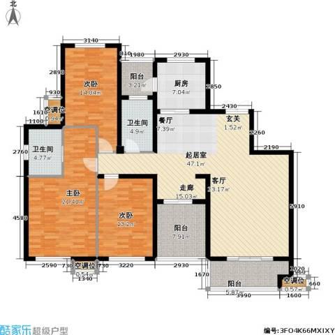 天安尚城3室0厅2卫1厨150.00㎡户型图