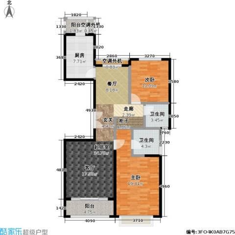 宝华名邸2室0厅2卫1厨110.00㎡户型图