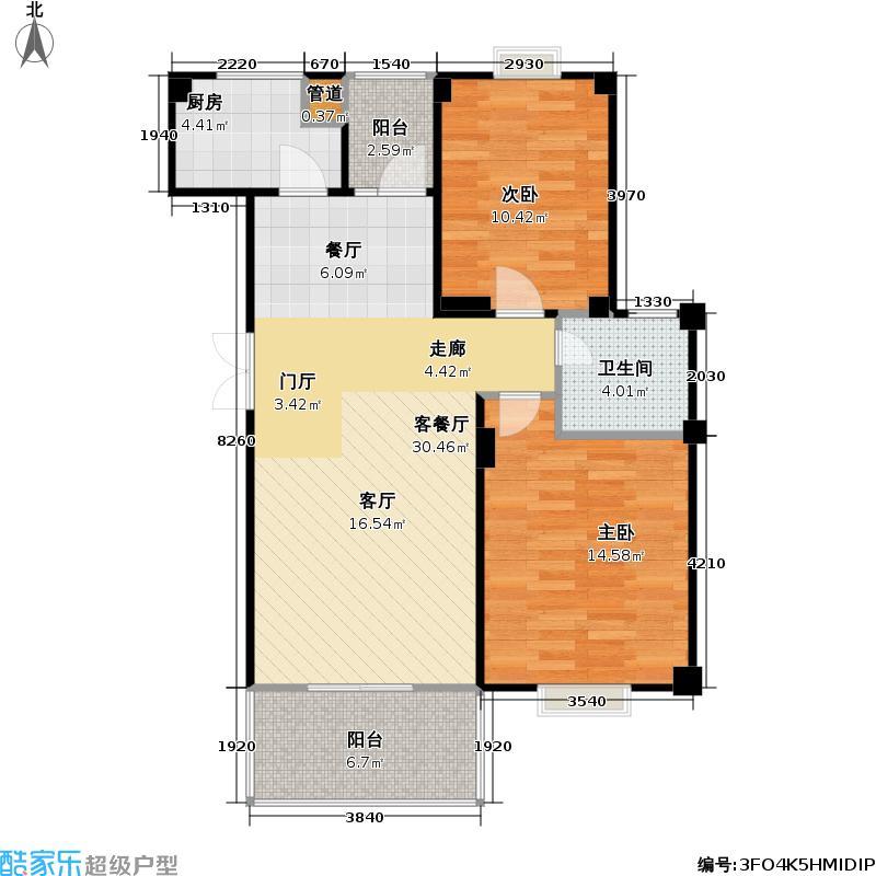 阳光丽舍93.41㎡阳光丽舍户型图房型:二房;面积段:93.41-99.48平方米;(3/4张)户型10室