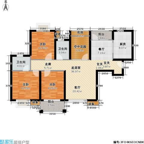 首开悦澜湾3室0厅2卫1厨115.00㎡户型图