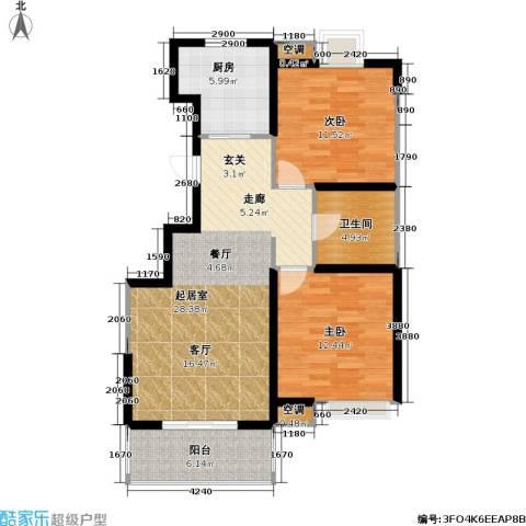 顺义金宝城2室0厅1卫1厨95.00㎡户型图