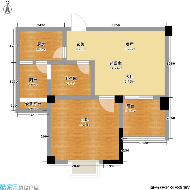 三金鑫城国际51.46㎡三金鑫城国际户型图房型:一房;面积段:51.46-51.52平方米;(1/1张)户型10室