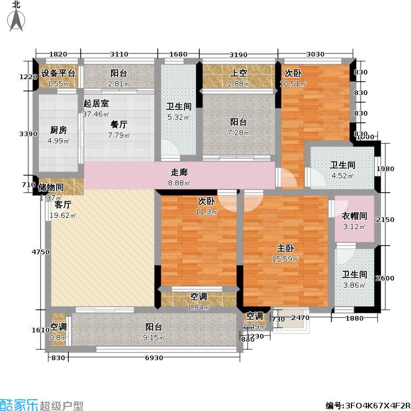 建邦华府147.05㎡建邦华府户型图10号楼D户型(1/3张)户型3室2厅2卫