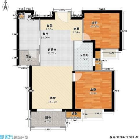 首开悦澜湾2室0厅1卫1厨83.00㎡户型图