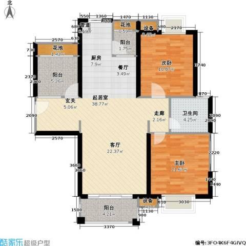 首开悦澜湾2室0厅1卫0厨89.00㎡户型图