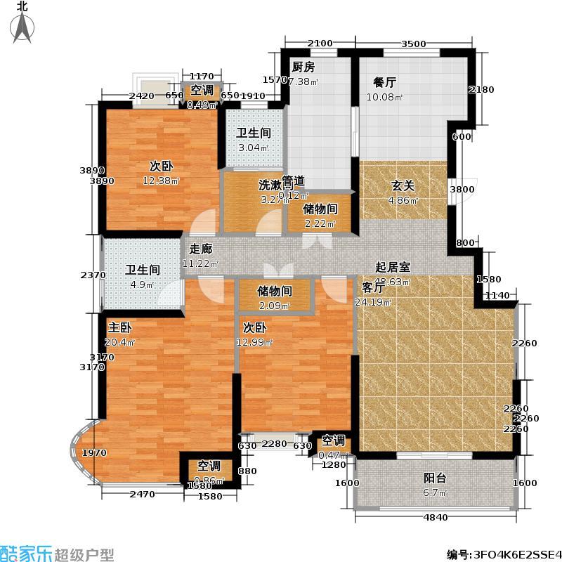 顺义金宝城J户型3室2卫1厨