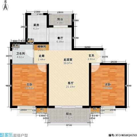 万源城御溪2室0厅1卫1厨110.00㎡户型图