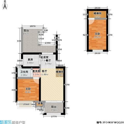 朗诗未来街区2室0厅1卫1厨68.00㎡户型图