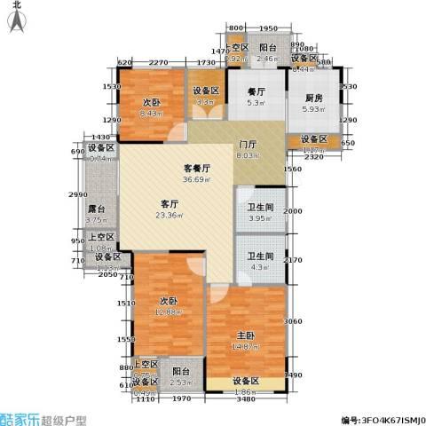 浙建枫华紫园3室1厅2卫1厨120.00㎡户型图