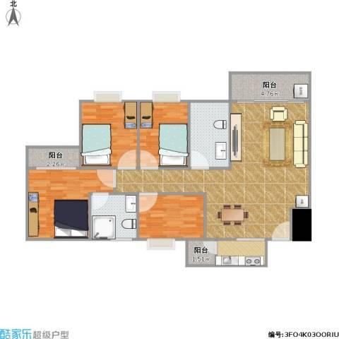 中颐海伦堡4室1厅2卫1厨120.00㎡户型图