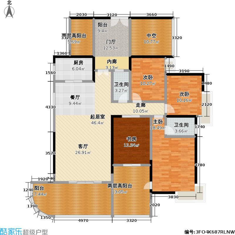 熙龙湾二期182.00㎡熙龙湾二期户型图5栋B座01房(5~27层)四房两厅两卫(奇数层)(11/28张)户型10室