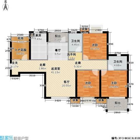 首开悦澜湾3室0厅2卫1厨120.00㎡户型图