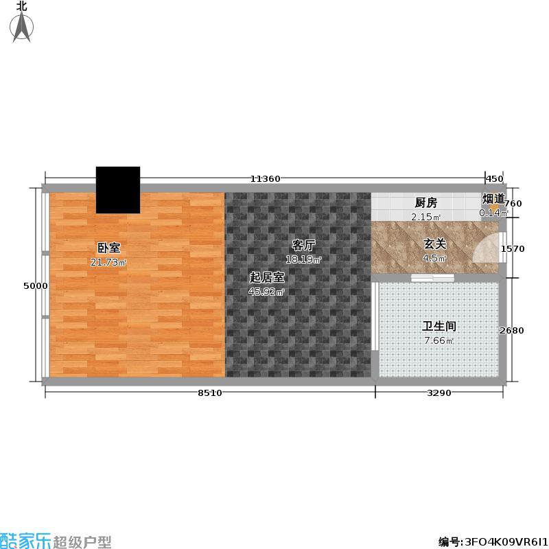 红豆国际广场69.50㎡A户型