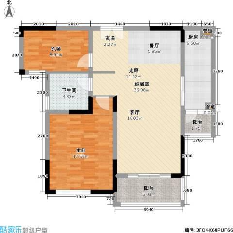 天安尚城2室0厅1卫1厨116.00㎡户型图
