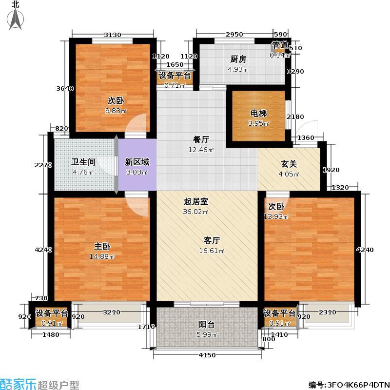 新城南都111.72㎡新城南都户型图三房二厅一卫-111.72平方米-18套(1/10张)户型10室