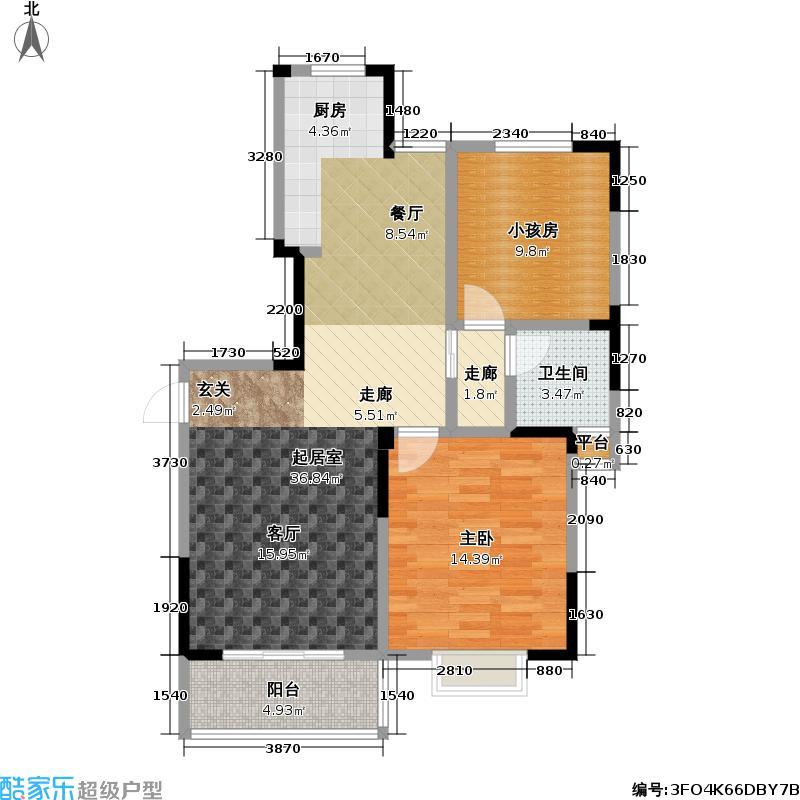 新城玉龙湾新城玉龙湾户型图C3户型面积约90平米(11/35张)户型10室