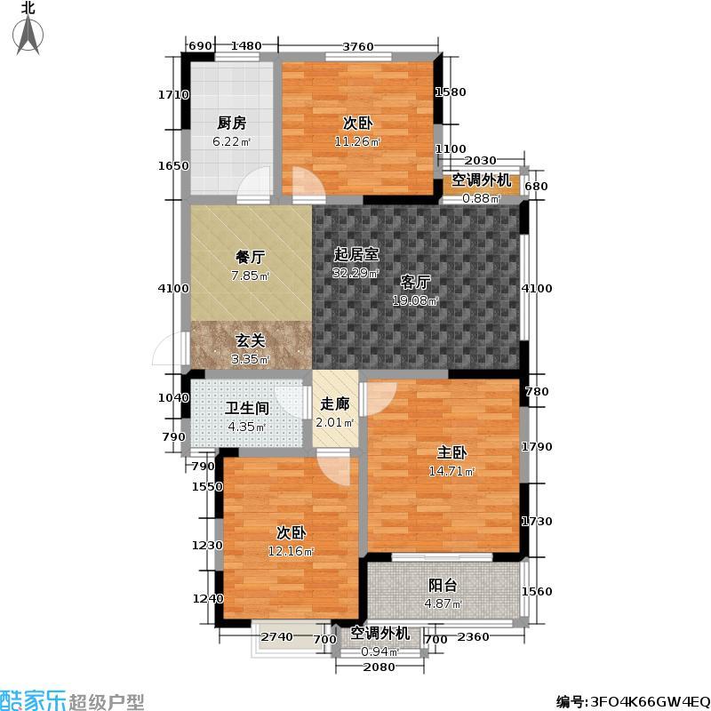 新城玉龙湾109.83㎡新城玉龙湾户型图三房二厅一卫:109.83平方米(5/6张)户型10室
