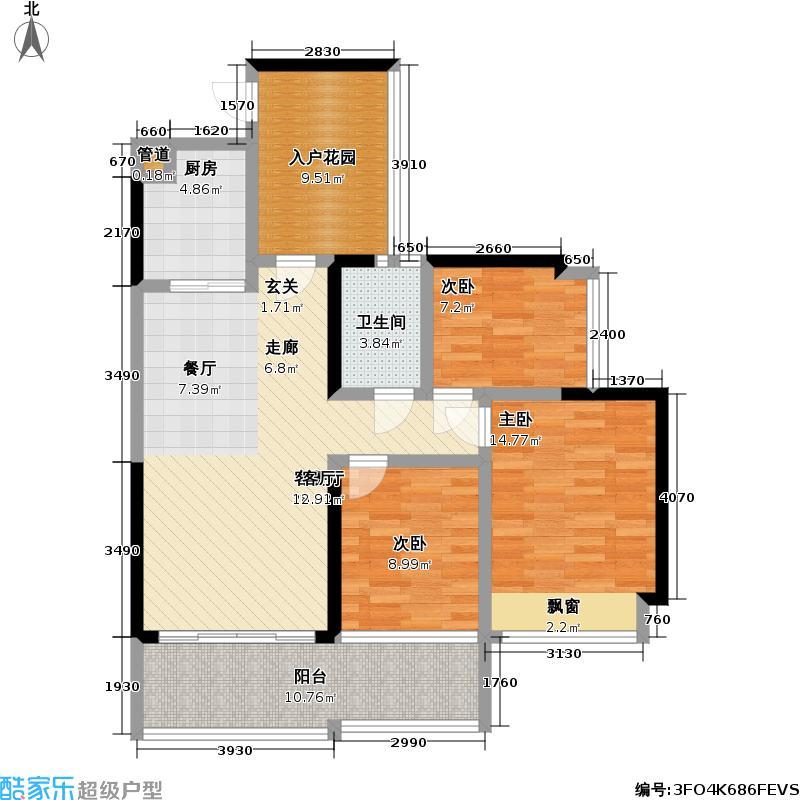 睿智华庭睿智华庭户型图C栋E户型三房二厅一卫87㎡(1/3张)户型3室2厅1卫