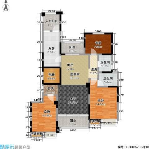 吟枫苑3室0厅2卫1厨125.00㎡户型图