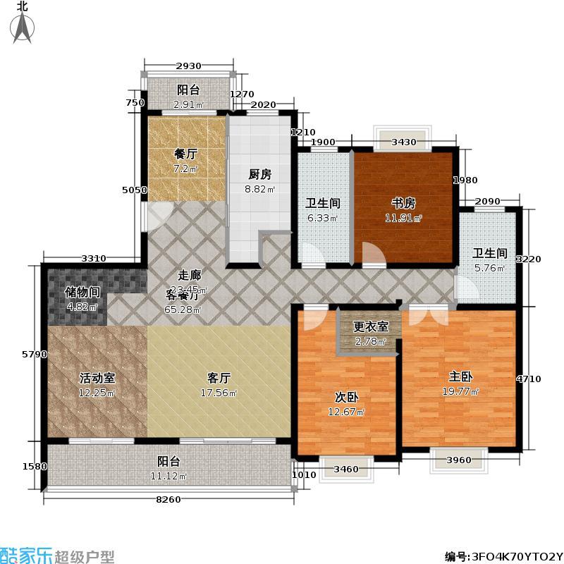 三湘世纪花城三期155.69㎡房型: 四房; 面积段: 155.69 -155.69 平方米; 户型