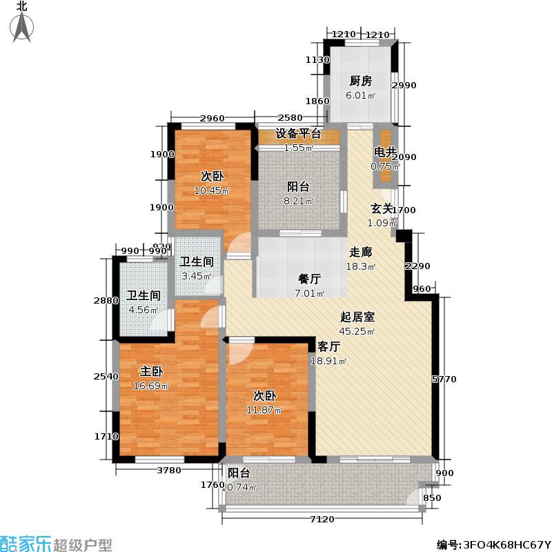 天安尚城天安尚城户型图C户型奢侈3+1约138平米(10/12张)户型10室