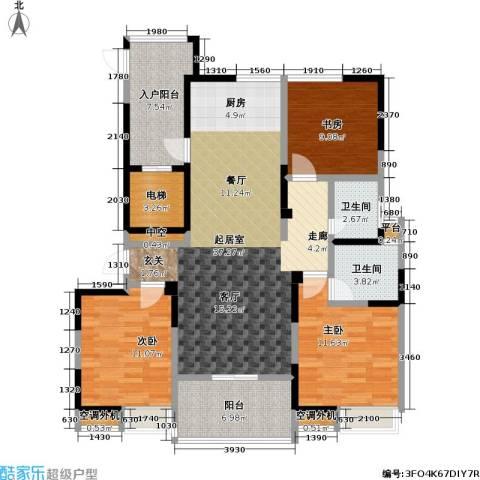 吟枫苑3室0厅2卫0厨136.00㎡户型图