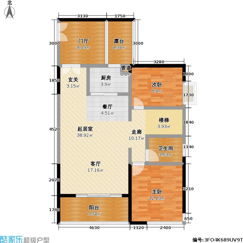 熙龙湾二期熙龙湾二期户型图两房两厅一卫(13/15张)户型10室