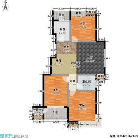 金田雅居3室0厅1卫1厨105.00㎡户型图