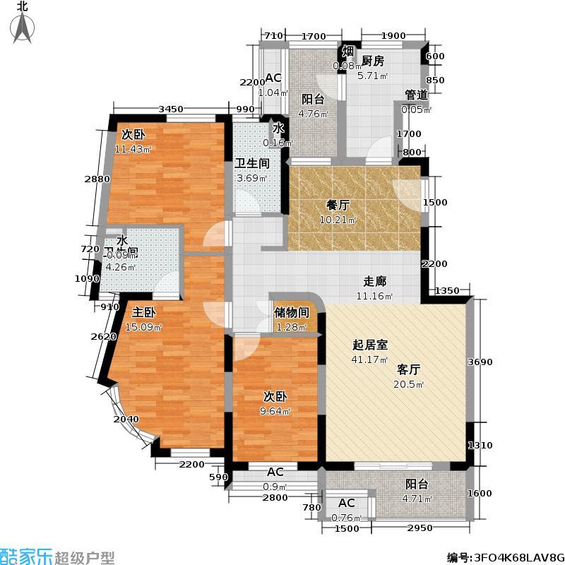 新奥依江畔园新奥依江畔园户型图新奥依江畔园C4、C4a3室2厅2卫136.76㎡(17/27张)户型10室