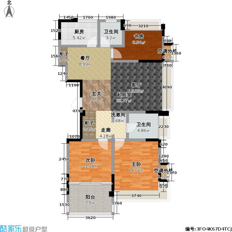 吟枫苑吟枫苑户型图三房两厅两卫:119-121㎡(19/21张)户型10室
