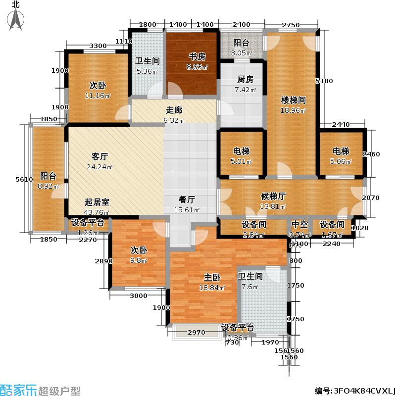 招商兰溪谷174.00㎡D户型4室2厅2卫