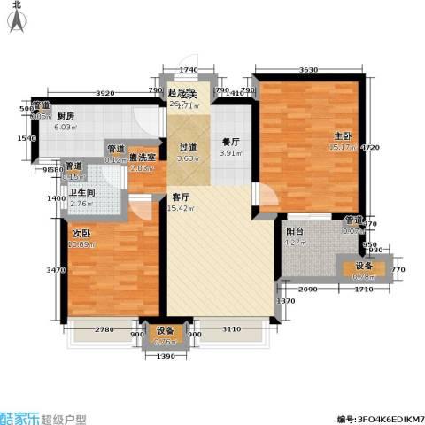 朗诗未来街区2室0厅1卫1厨79.00㎡户型图