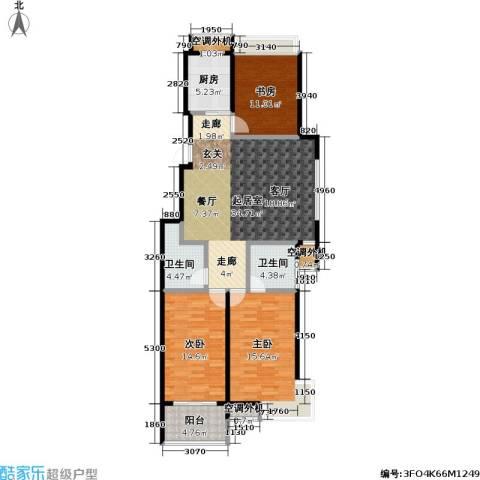 金田雅居3室0厅2卫1厨122.00㎡户型图