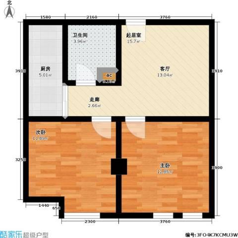 唯C商务广场2室0厅1卫1厨71.00㎡户型图