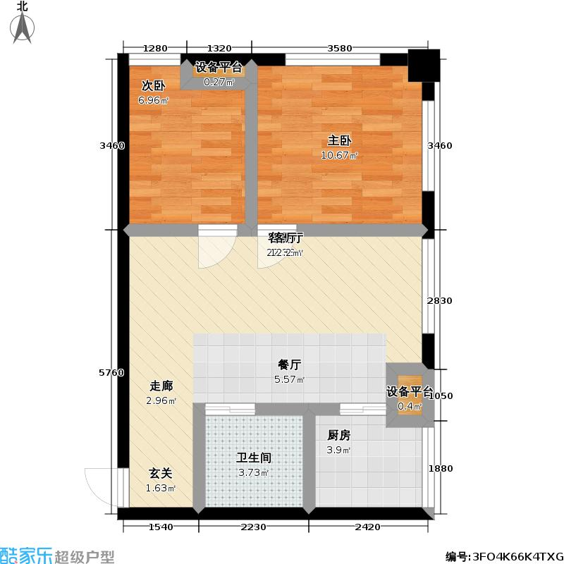 东方国际57.00㎡东方国际户型图67平方米(4/4张)户型10室