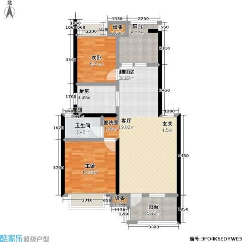 朗诗未来街区2室0厅1卫1厨81.00㎡户型图
