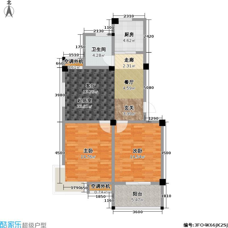 怡枫苑怡枫苑户型图C户型面积约85-90㎡(2/2张)户型10室
