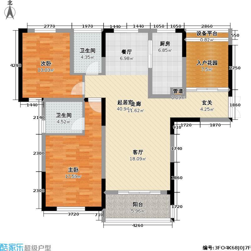 天安尚城天安尚城户型图A户型温馨2+1117平米(12/12张)户型10室