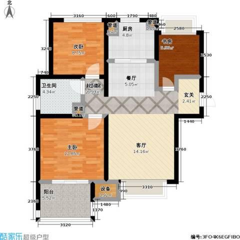 朗诗未来街区3室0厅1卫1厨85.00㎡户型图