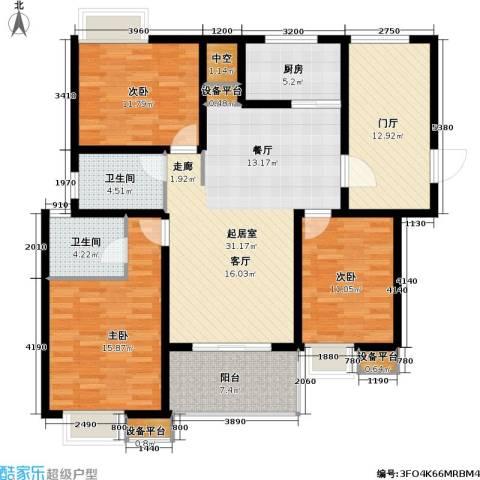 香江壹品3室0厅2卫1厨154.00㎡户型图